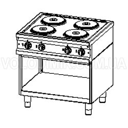Четырёхконфорочная плита
