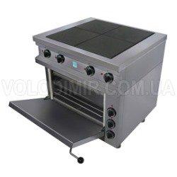 Четырехконфорочная плита с жарочным шкафом