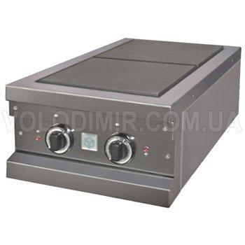 Плита электрическая двухконфорочная настольная с конфорками 300х300 мм