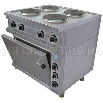 Плита электрическая четырех конфорочная с жарочным шкафом с круглыми конфорками EGO