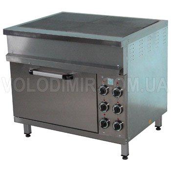 Плита электрическая четырехконфорочная с жарочным шкафом с конфорками 295х415 мм