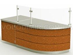 Модуль 1. Распашная дверь, округленная рабочая поверхность