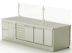 Модуль 2. Холодильный стол для пиццы, отделение для мусора, блок с эл. розетками