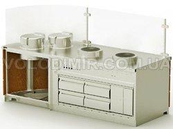 Модуль 1. Две рисоварки, Вок плиты, холодильный стол