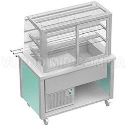 Витрина холодильная с прямым стеклом и откидными заслонками