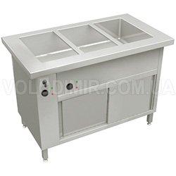Мармит тепловой с тепловым шкафом и цельной емкостью (Водяной)