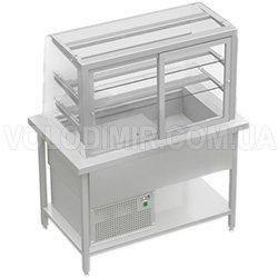 Витрина холодильная с выгнутым стеклом