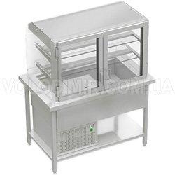 Витрина холодильная с выгнутым открытым стеклом