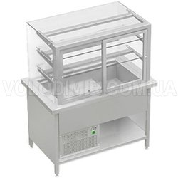 Витрина холодильная с прямым стеклом