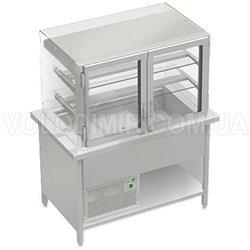 Витрина холодильная с прямым открытым стеклом