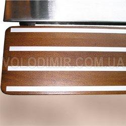 Вмонтированы алюминиевые Т- образные профили