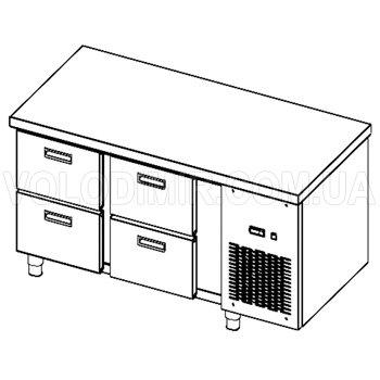 Стол холодильный с ящиками